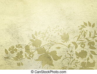Artistic background 2 - Classical background with floral...