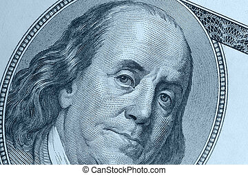 Benjamin Franklin blue color - Benjamin Franklin A fragment...
