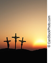 crucifixion - The crucifixion. A cross with Jesus Christ. A...