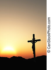 crucifixion and sunset vertical - The crucifixion A cross...