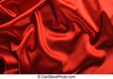 red satin background A satiny fabric with beautiful...