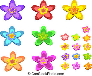 Mix of 5 Pointed Flowers