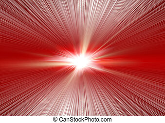 Fantastic explosion lines of light, effect of a spectrum and...