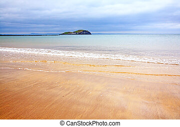April beach at North Berwick, Scotland