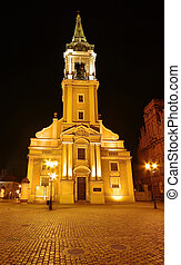 Night scene with old church
