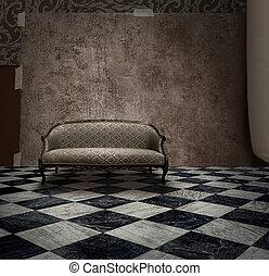 Grunge room mystery secret
