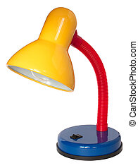 Multicoloured reading lamp on white background Isolated