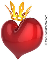 Heart of king. Premium Love concept