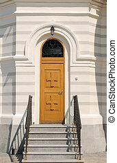 Door in Christian church