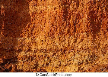 rock texture - Structures of a rock. A surface of walls of...