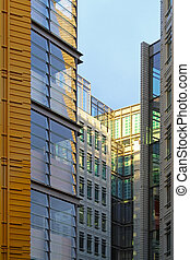 Business buildings - Block of business buildings with glass...