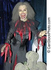 The vampire and cross - The vampire. The woman the vampire...