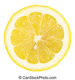 lemon slice with clipping path