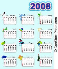 Saisons,  2008,  -,  calendar_vertical