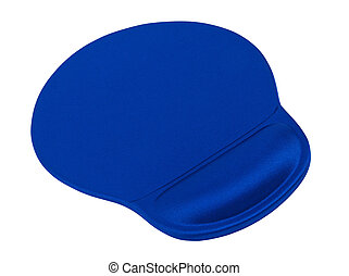 Mouse pad - Ergonomic mouse pad with rest for wrist isolated...