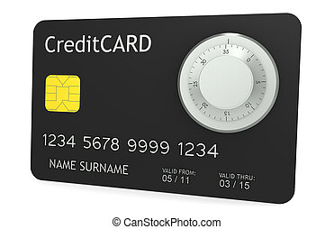 Online Payments - A credit card with Combination Lock