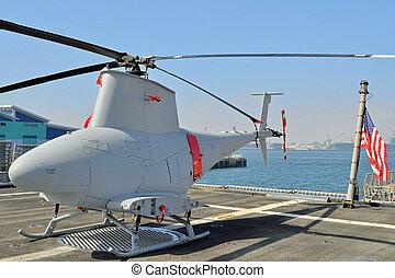 Unmanned, reconocimiento, helicóptero