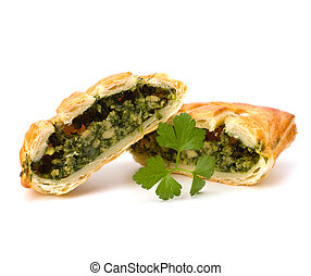 Puff pastry Healthy pasty with spinach - Puff pastry...