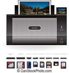 LaserJet Printer Front View - Medium Home Color Photo...