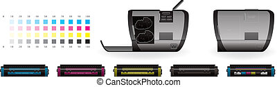 LaserJet Printer Side View - Medium Home Color Photo...