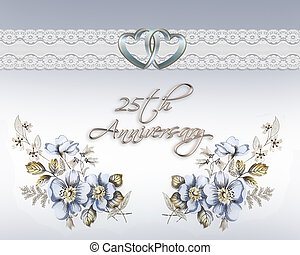 25th wedding anniversary card - Image and illustration...