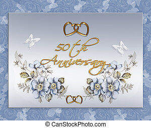 50th wedding anniversary card - Image and illustration...