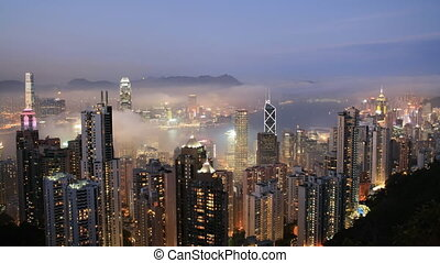 Sunset over Hong Kong - Time lapse Sunset over Hong Kong...