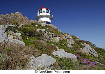 Lighthouse at the Cape of Good Hope in South Africa