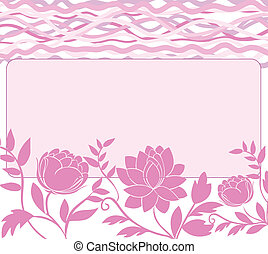 frame with pink flowers