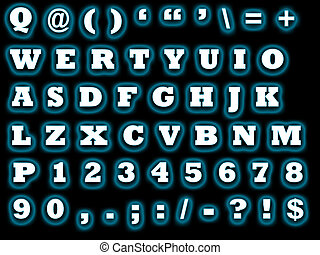 alphabet qwerty - sheet with the letters to be used for...