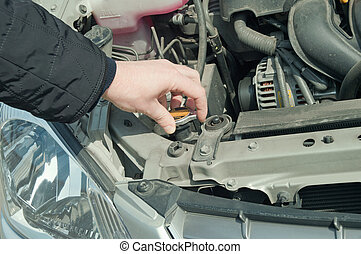 Inspection of the drive of the car - Inspection of level of...