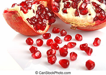 pomegranate - big sweet tasty ripe pomegranate with red...