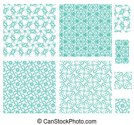 4 floral patterns - 4 seamless patterns with floral elements...