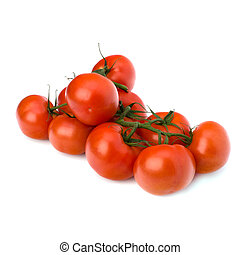 red tomato isolated on the white background - red tomato...