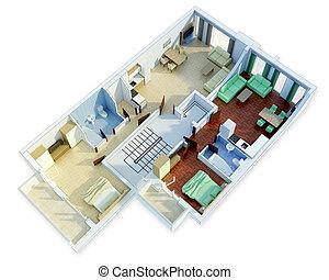 3D floor plan  - 3D floor plan