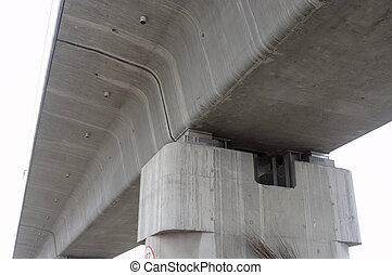 Overpass details - Closeup view of a characteristic railroad...