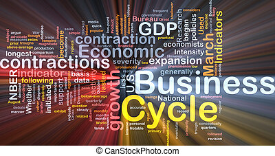Business cycle background concept glowing - Background...