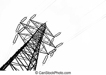 Powerline on a cloudy