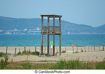 Watchtower - watchtower for a bather in a sandy beach