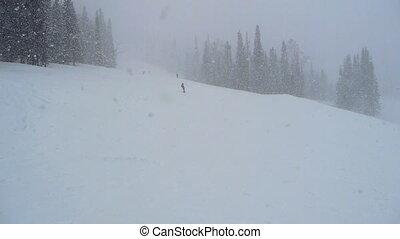 boarder girl in snow