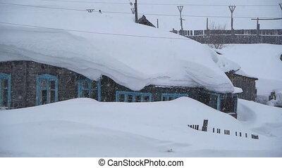 snowy house
