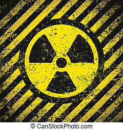 Sign radiation Vector illustration Eps10