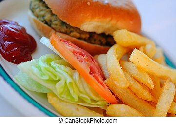 Delicious fast food meal