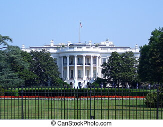 The White House - A landscape view of the White House in...