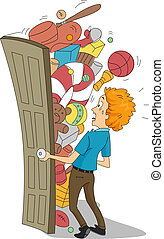 Funny Stock Room - Illustration of a Stock Room Full of...