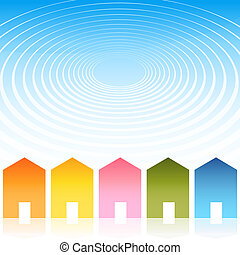 Housing Ripple Effect Background - An image of a housing...