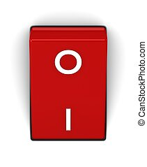 Switch with ON position on a white background