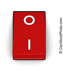 Switch with OFF position on a white background
