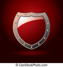 Red shield blank - Bright red secure sheild with screws and...