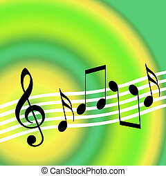 Music Background - Bright music background with musical...
